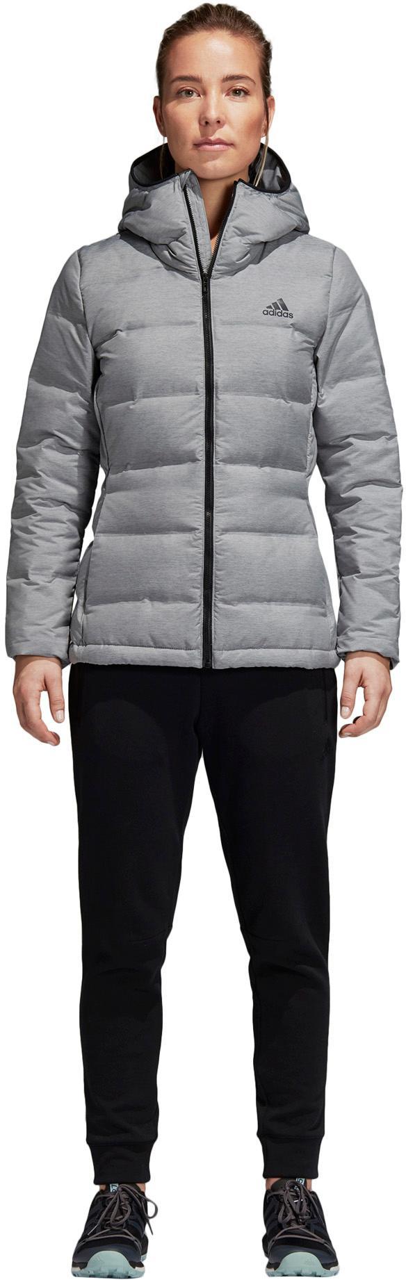 adidas Helionic Daunenjacke Damen medium grey heather im Online Shop von SportScheck kaufen