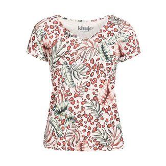 Khujo ESSAU JUNGLE LEO T-Shirt Damen mehrfarbig geblümt