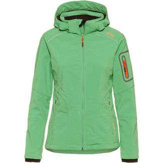 CMP Zip Hood Softshelljacke Damen green tea