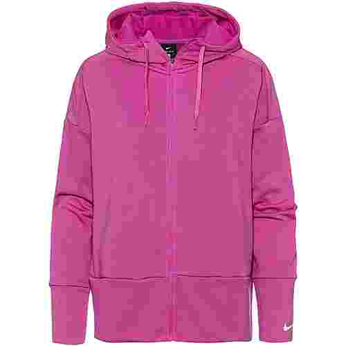 Nike Just Do It Sweatjacke Damen active fuchsia-white
