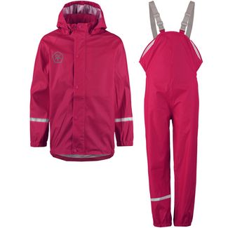 COLOR KIDS TAXI Matschhose Regenjacke Kinder raspberry