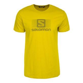 Salomon Blend Logo Laufshirt Herren dunkelgelb