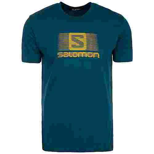 Salomon Blend Logo Laufshirt Herren dunkelblau