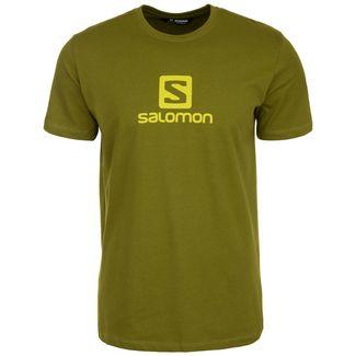 Salomon Coton Logo Laufshirt Herren hellgrün
