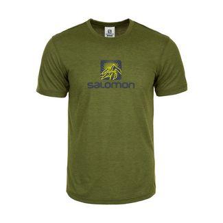 Salomon Explore Graphic Laufshirt Herren grün