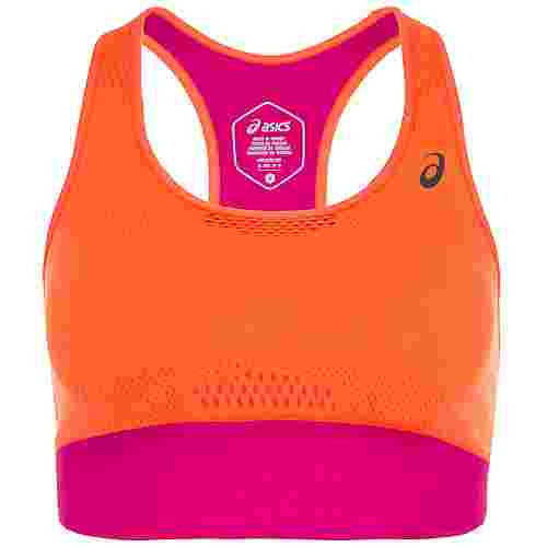 ASICS Cooling Seamless Sport-BH Damen korall / pink
