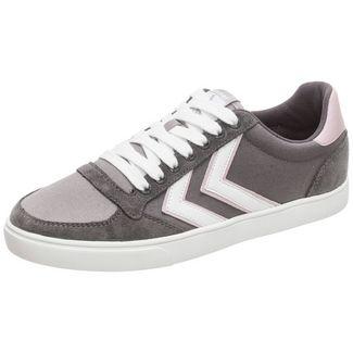 hummel Slimmer Stadil Low Sneaker Damen dunkelgrau / rosa