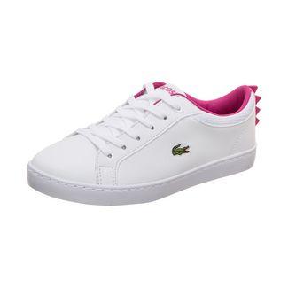 Lacoste Straightset Sneaker Kinder weiß / pink
