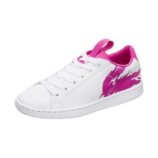 Lacoste Carnaby Evo Sneaker Kinder weiß / pink
