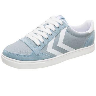hummel Slimmer Stadil Mono Low Sneaker Damen hellblau / weiß