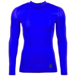 Nike Pro Kompressionsshirt Herren blau