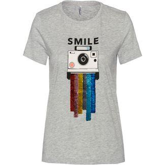 Only onlCollie T-Shirt Damen light grey melange