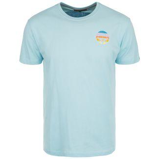 VAN ONE Bulli Face Retro T-Shirt Herren hellblau / bunt