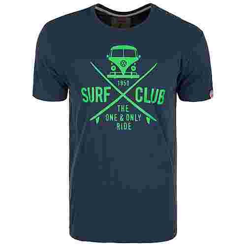 VAN ONE Surf Club T-Shirt Herren dunkelblau / grün