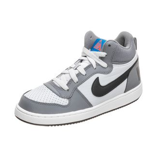Nike Court Borough Mid Sneaker Kinder grau / schwarz