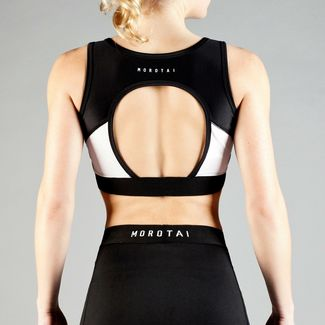 MOROTAI Performance Triangel Bra Sport-BH Damen Weiß
