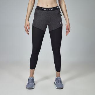 MOROTAI Sweat Tights Leggings Damen Schwarz / Dunkelgrau