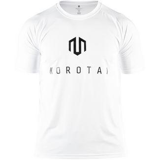 MOROTAI Performance Basic T-Shirt Herren Weiß / Schwarz