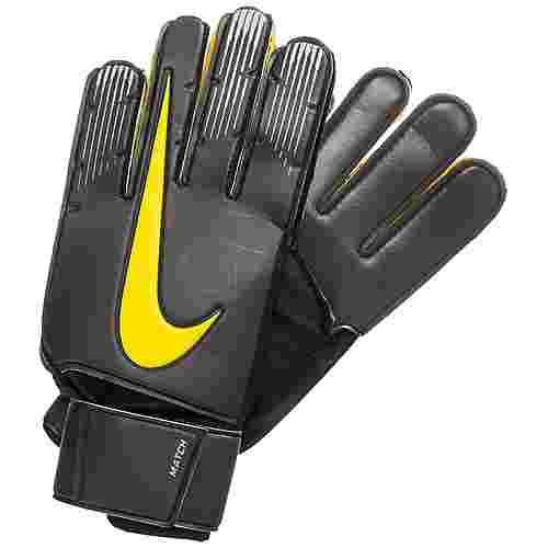 Nike Match Torwarthandschuhe Herren anthrazit / gelb