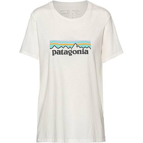 Patagonia Pastel P 6 Logo Organic Crew T Shirt Damen white im Online Shop von SportScheck kaufen
