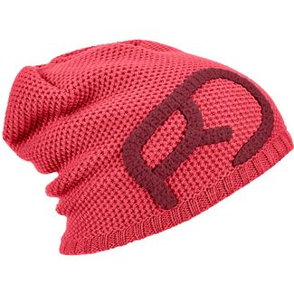 ORTOVOX Rock'N'Wool Merino Beanie Damen hot coral