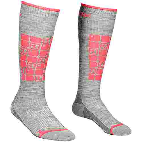 ORTOVOX Ski Compression Skisocken Damen grey blend