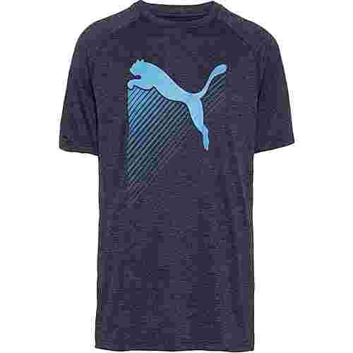 PUMA The Cat T-Shirt Herren peacoat heather