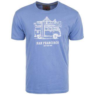 VAN ONE San Francisco T-Shirt Herren blau / weiß
