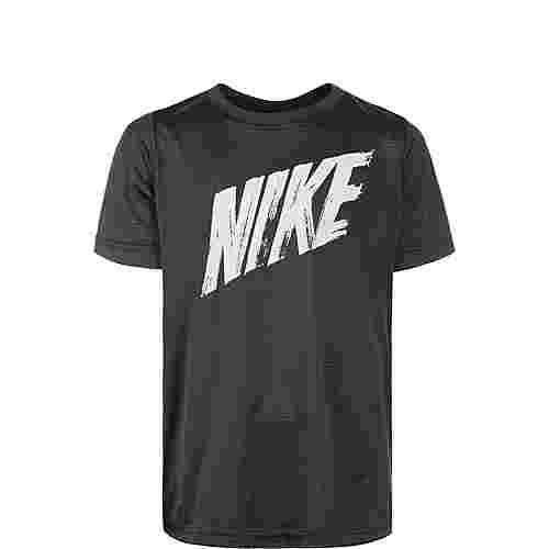 Nike Dry Funktionsshirt Kinder schwarz / grau