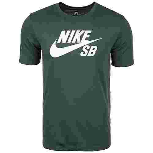 Nike Logo Printshirt Herren grün / weiß