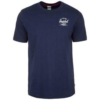 Herschel Tee T-Shirt Herren dunkelblau / weiß
