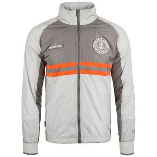 Unfair Athletics Light Carbon Windrunner Outdoorjacke Herren grau / orange