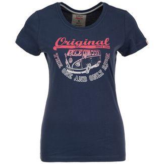 VAN ONE Original Ride T-Shirt Damen dunkelblau / rot