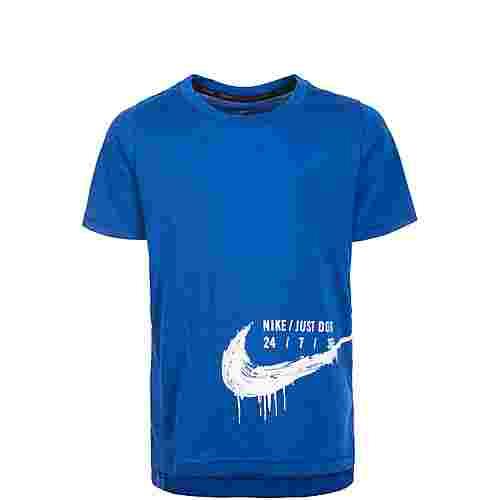 Nike Breather Hyper Dry Funktionsshirt Kinder blau / weiß