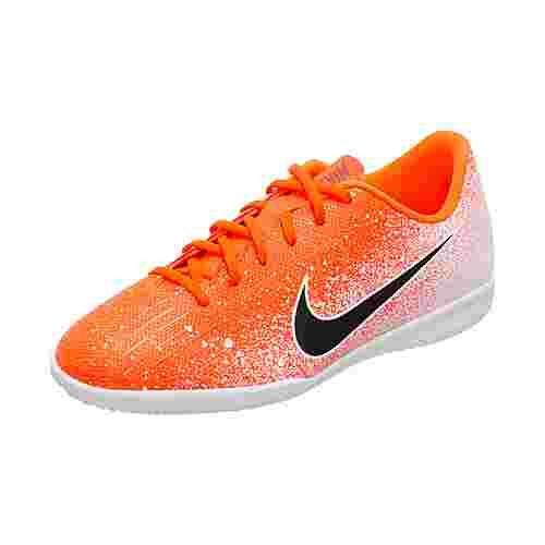 Nike Mercurial VaporX XII Academy Fußballschuhe Kinder orange / schwarz