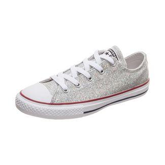 CONVERSE Chuck Taylor All Star Sparkle Sneaker Kinder silber
