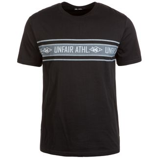 Unfair Athletics Athletic Striped T-Shirt Herren schwarz / grau