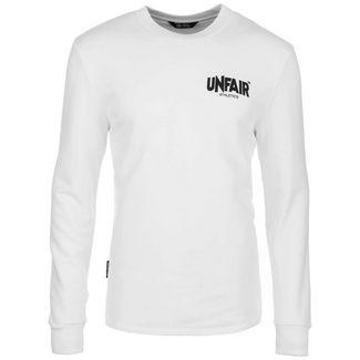 Unfair Athletics Classic Label Langarmshirt Herren weiß / schwarz