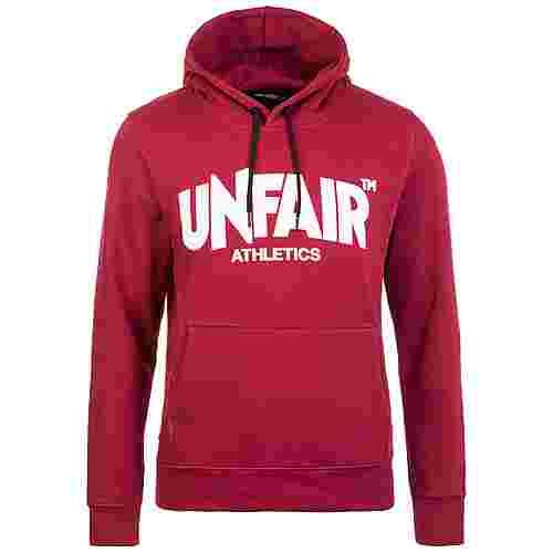 Unfair Athletics Classic Label Hoodie Herren bordeaux / weiß