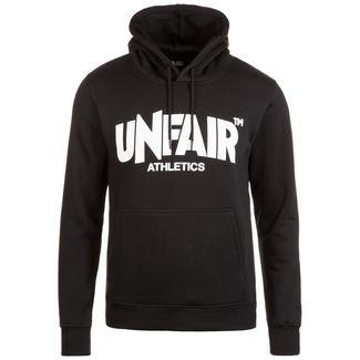 Unfair Athletics Classic Label Hoodie Herren schwarz / weiß