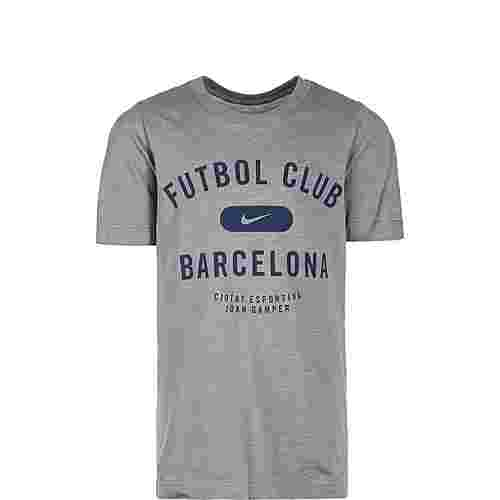 Nike FC Barcelona Fanshirt Kinder hellgrau / dunkelblau