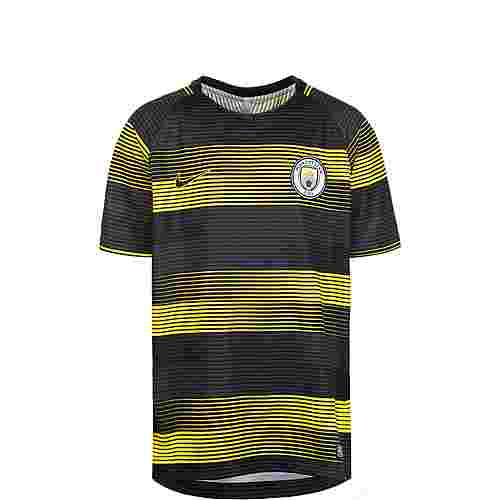 Nike Manchester City Dry Squad GX Fanshirt Kinder gelb / schwarz