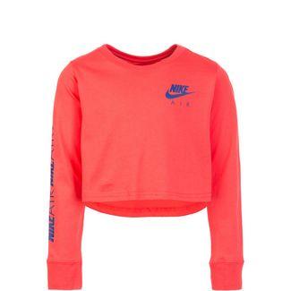 Nike Air Crop Langarmshirt Kinder pink / blau