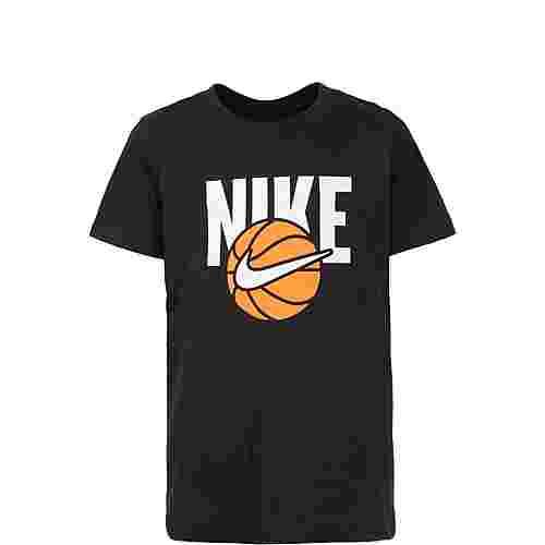 Nike Basketball Ball T-Shirt Kinder schwarz / weiß