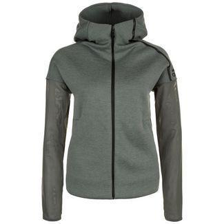 adidas Z.N.E. Mesh Trainingsjacke Damen dunkelgrün / grau