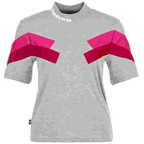 UMBRO Chevron T-Shirt Damen grau / pink