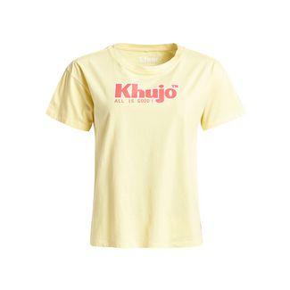 Khujo MARLENIA LOGO T-Shirt Damen gelb
