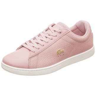 Lacoste Carnaby Evo Sneaker Damen altrosa / weiß