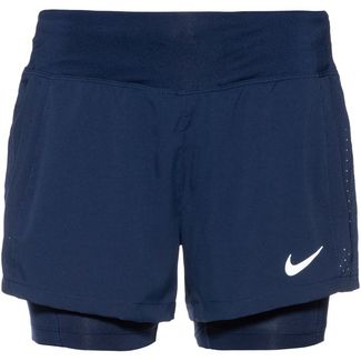 Nike Eclipse 2in1 Laufshorts Damen blue void-reflective