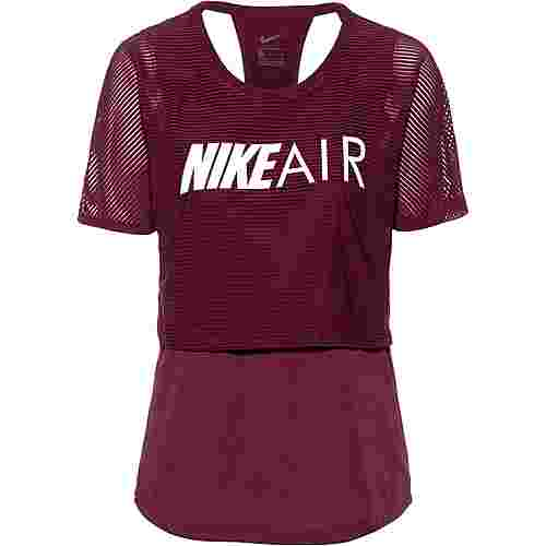 Nike Air Funktionsshirt Damen night maroon-white